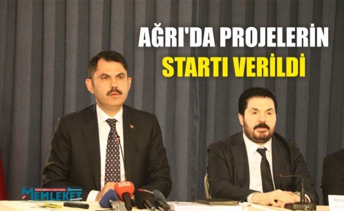 Ağrı'da projelerin startı verildi