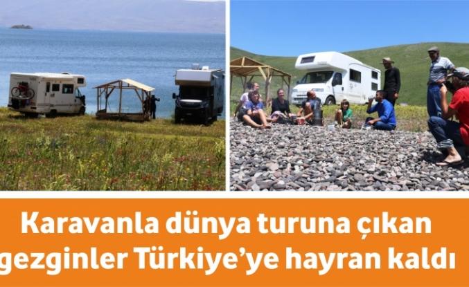 Karavanla dünya turuna çıkan gezginler Türkiye'ye hayran kaldı
