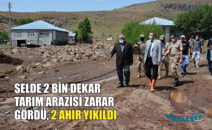 SELDE 2 BİN DEKAR  TARIM ARAZİSİ ZARAR  GÖRDÜ, 2 AHIR YIKILDI