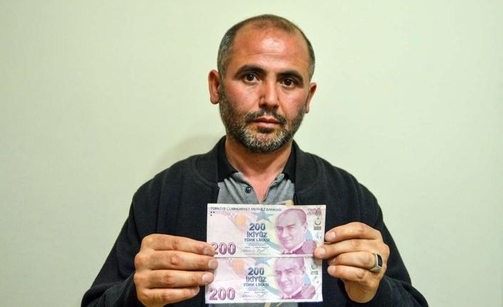 Yanlış baskı yapılan 200 TL'lik banknotu satıyor