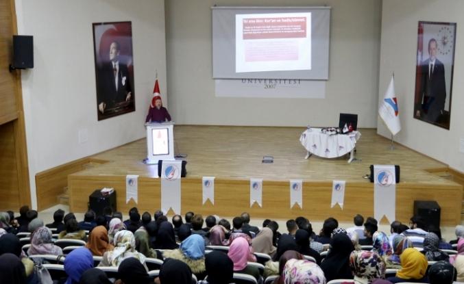 """AİÇÜ'de """"Kur'an Bize Yeter Söylemi"""" konferansı"""