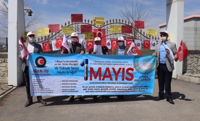 Ağrı'da 1 Mayıs İşçi Bayramı kutlandı