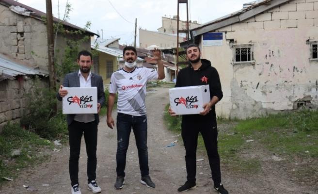 Beşiktaş Taraftar Grubu Çarşı'dan Ağrı'ya yardım eli