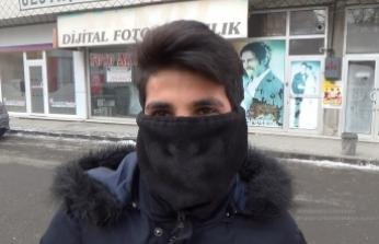 Ağrı'da soğuk hava hayatı felç etti