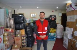 Kızılay Ağrı Şubesi deprem bölgesi için yardım...