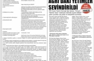 11 Mayıs 2020 Tarihli Ağrı İbrahim Çeçen Üniversitesi...