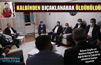 Bakan Soylu'dan Barış Çakan'ın ailesine ziyaret